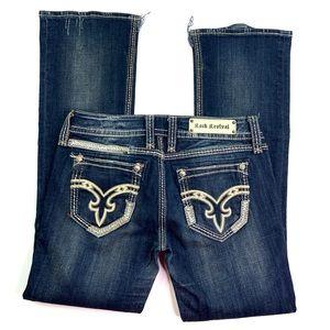 Rock Revival Dark Wash Denisa Destroyed Jeans